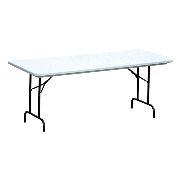 Antimicrobial Blow Molded Plastic Folding Table