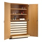 Paper Storage Cabinet w/ Shelving