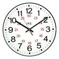 "12"" 12/24 Hour Plastic Wall Clock"