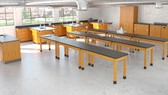 High school science lab.