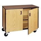 Adjustable-Shelf Storage Cabinet - Shown with doors