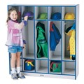 Rainbow Accents Open Five-Section Locker
