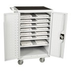 12-Outlet Laptop/Tablet Recharging Cart - Assembled
