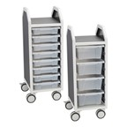 Profile Series Single-Wide Mobile Classroom Storage Cart