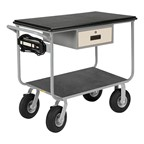 "Electrically Wired Instrument Cart w/ Drawer - Shown w/  9"" Pneumatic Casters"