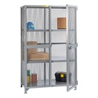 All-Welded Storage Locker with Two Center Shelves