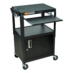 Luxor Compact Steel Computer Cart with Cabinet