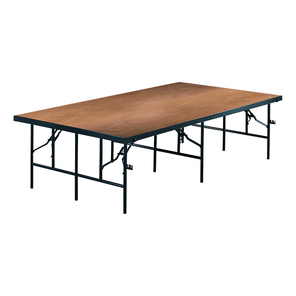 Midwest Folding Products Transfold Fixed Platform Stage Seated Riser Section W Hardboard Deck At School Outfitters