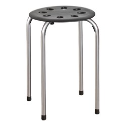 Plastic Stack Stool - Silver powder legs