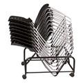 Ballard Plastic Stack Chairs & Dolly Bundle w/ Black Frame