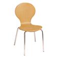 Natural Wood Café Chair