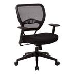 Space Air Grid Series Office Chair - Fabric Seat & Black Frame