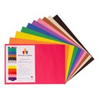 "Vibrant Art Construction Paper (12"" W x 18"" L) - Assorted"