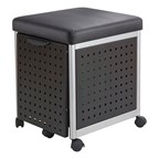 Scoot Series Mobile Filing Cabinet w/ Cushioned Seat