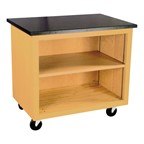 Mobile Storage Cart - Shown w/ open front shelves