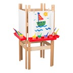 Wooden Adjustable Easel w/ Markerboard