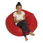 "Round Bean Bag Chair (35"" D) - Red"