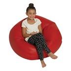 """Round Bean Bag Chair (35"""" D) - Red"""