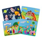 Felt Storyboards Set w/ Storage Bag - Diving, Dinosaurs, Zoo Animals, Outer Space