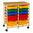 10-Tray Two-Section Storage Unit