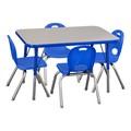 Rectangle Adjustable-Height Preschool Table & Chair Set