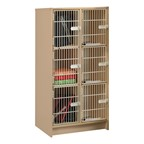 Six-Compartment Wood Lockers