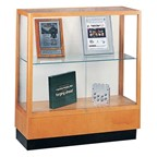 Heritage 8949 Series Counter-Height Display Case - Shown w/ oak finish