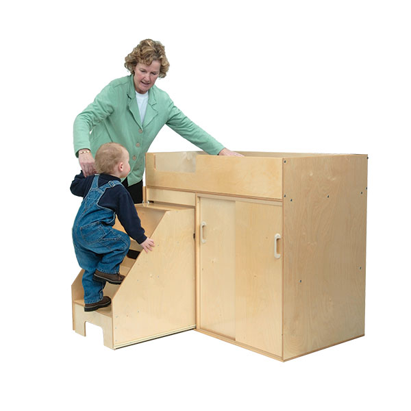 Good ... Toddler Changing Table W/ Stow Away Steps