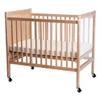 Infant ClearView Safety Crib - Shown w/ casters