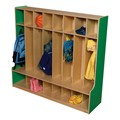 Colorful Wooden Eight-Section Locker