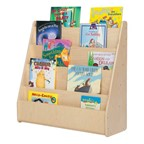 Single-Sided Wooden Book Display