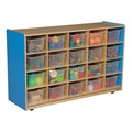20-Tray Colorful Mobile Storage Unit