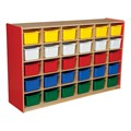 30-Tray Colorful Mobile Storage Unit