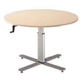 Adjustable-Height Pedestal Table w/ Hand-Crank Adjustment