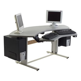 Bi-Level Console Table w/ Power Adjustment