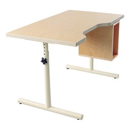 Knob-Adjusted Wheelchair Accessible Desk – Height Adjustment