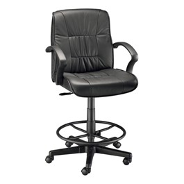 Art Director Leather Executive Drafting Chair