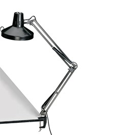Swing-Arm Combination Lamp - Black