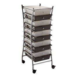 Curved Frame Mobile Taboret w/ 10 Drawers