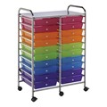 Multi-Colored Mobile Taboret w/ 20 Drawers