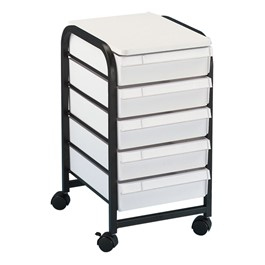 Mobile Taboret - Shown w/ white drawers