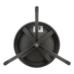 Adjustable-Height Metal Round Stool - Gun Metal - Bottom