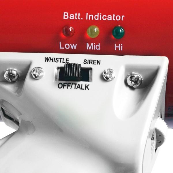 Mity Meg Plus Megaphone w/ Detachable Mic (25-Watt) - Controls