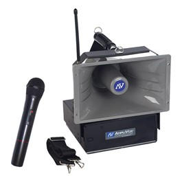 Half-Mile Hailer Speaker System w/ Wireless Handheld Mic