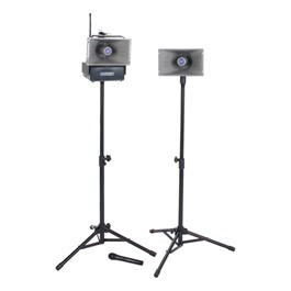 Half-Mile Hailer Speaker System - Deluxe Package w/ Wireless Handheld Mic