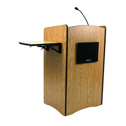 Multimedia Laptop Sound Lectern - Front view