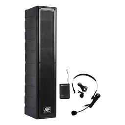 Amplified Line Array Speaker w/ Wireless UHF Headset Mic Kit