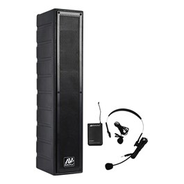 Amplified Line Array Speaker w/ Wireless UHF Headset Mic Kit