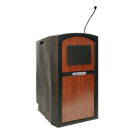 Pinnacle Lectern w/ Wireless Mic & Built-In Sound