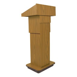 Adjustable Pneumatic Lectern - Oak